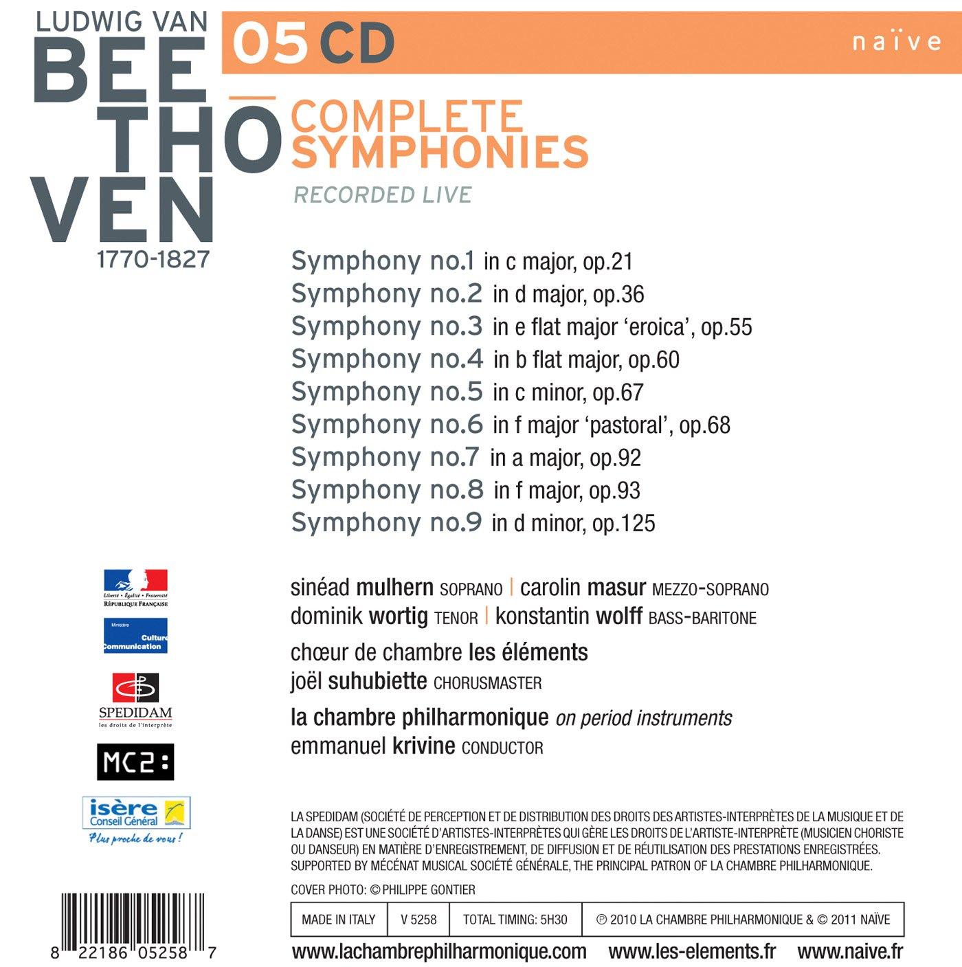 Beethoven The Complete Symphonies Amazon Co Uk Music