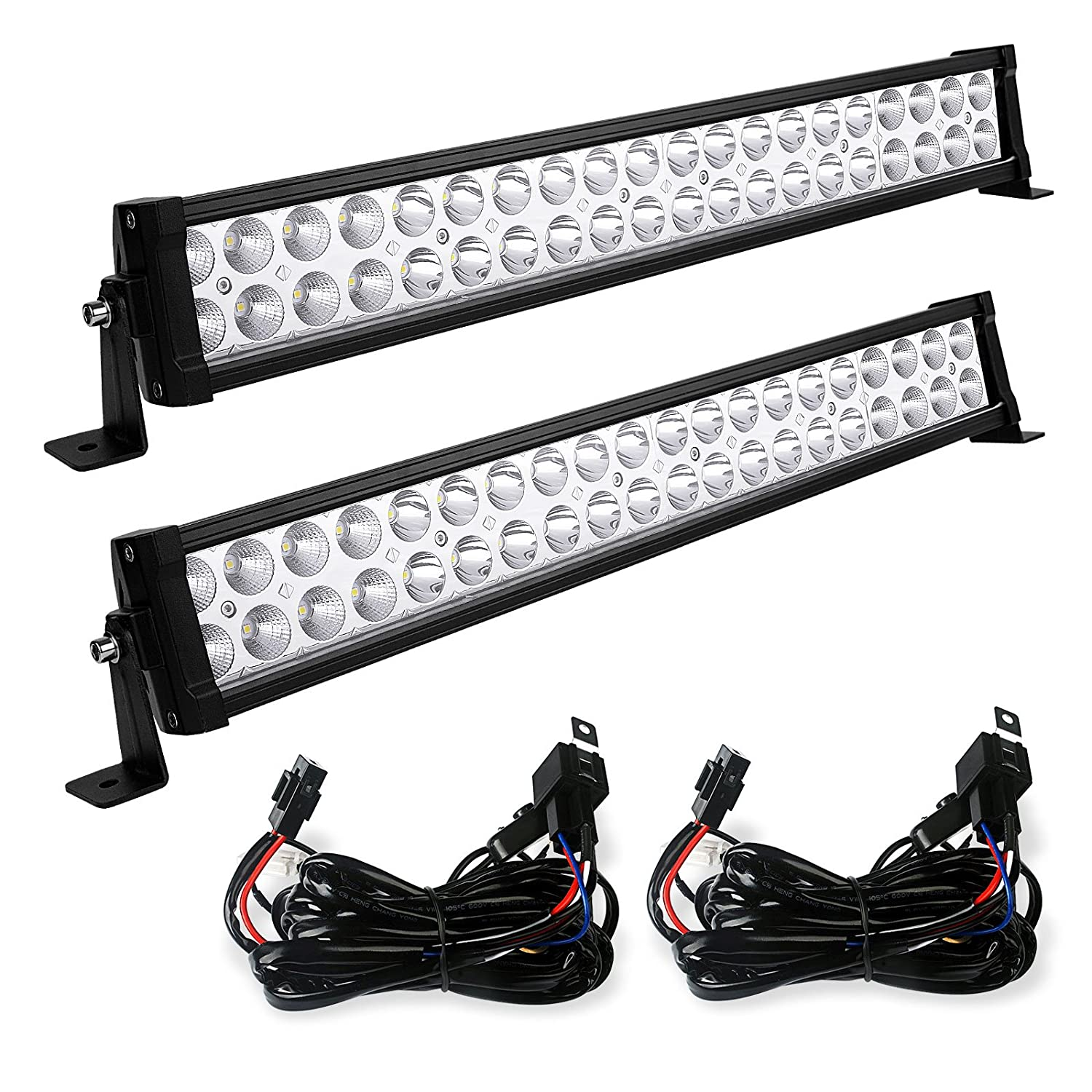 Amazon.com: LED Light Bar YITAMOTOR 2PCS 24 inch Light Bar Spot Flood Combo  Offroad Driving Lights with Wiring Harness compatible for ATV Jeep Truck  4x4 4WD ...