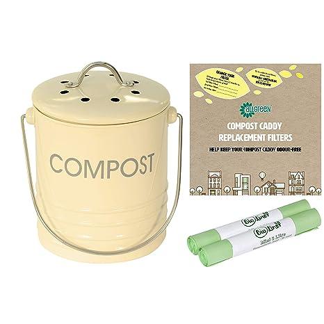 All-Green Mini Cubo de Basura para Compost de 3 litros ...