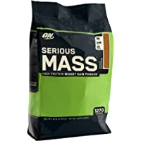 Optimum Nutrition Serious Mass Chocolate Protein Powder Gainer, 5.44 Kilograms
