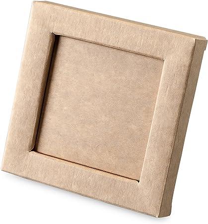 Mopec Caja Marco de Color Kraft, Pack de 25 Unidades, Cartulina gráfica, 1.50x10.00x10.00 cm: Amazon.es: Hogar