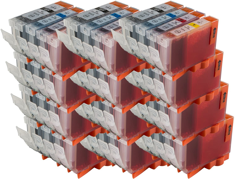 48 Kompatibel BCI-– 5-6 nicht-OEM Tintenpatronen (Sets von 4) für Canon iP8500 iP6000D Drucker