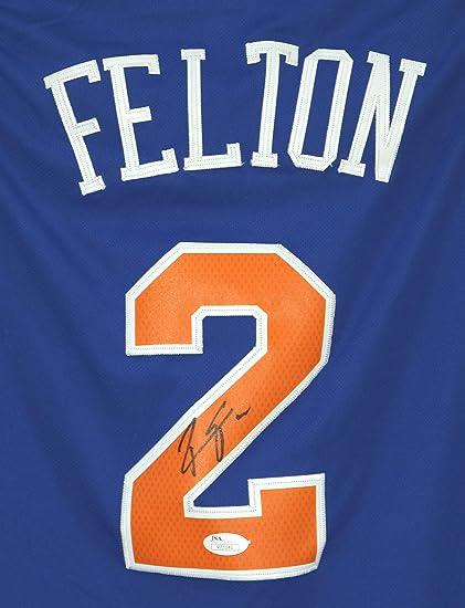 newest collection 44adb 63eba Raymond Felton New York Knicks Signed Autographed Blue #2 ...