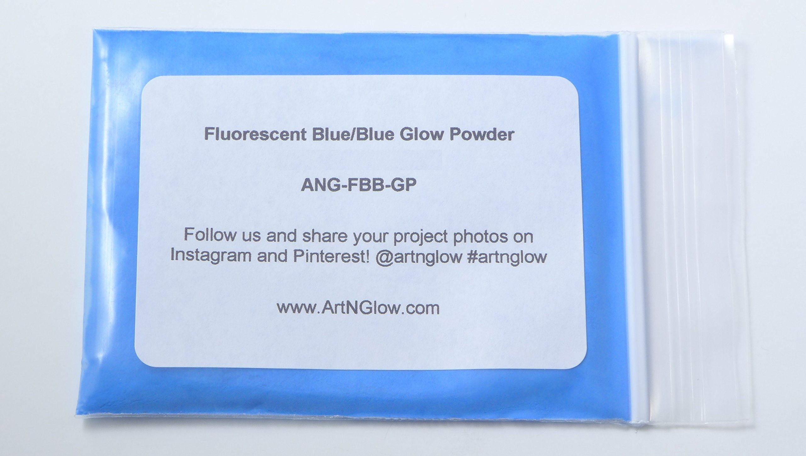 Glow In The Dark Pigment Powder - 1 Kilogram (Neutral and Fluorescent) (Fluorescent Blue) by Art 'N Glow (Image #1)