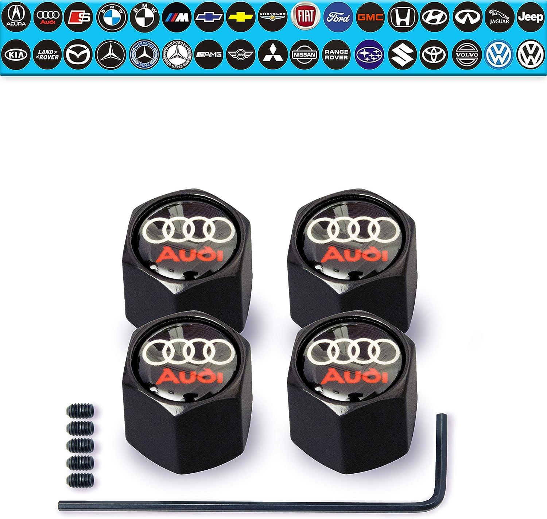 Aluminium Alloy Red Car Tire Wheel Tyre Stem Valve Hex Caps /& Sleeve Covers  LC