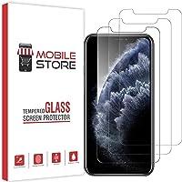 [3 Adet] mobile store Glass iPhone XS Max Tamperli Cam Ekran Koruyucu iPhone 11 Pro Max ile Uyumludur[9H Sertlik] [Ultra HD]