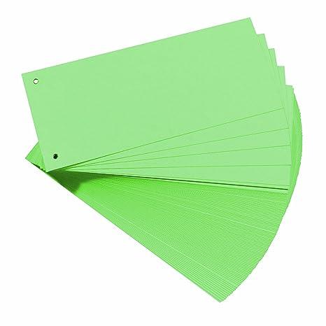 Herlitz Carton - Separadores para archivadores A4, verde (Paquete de 100)