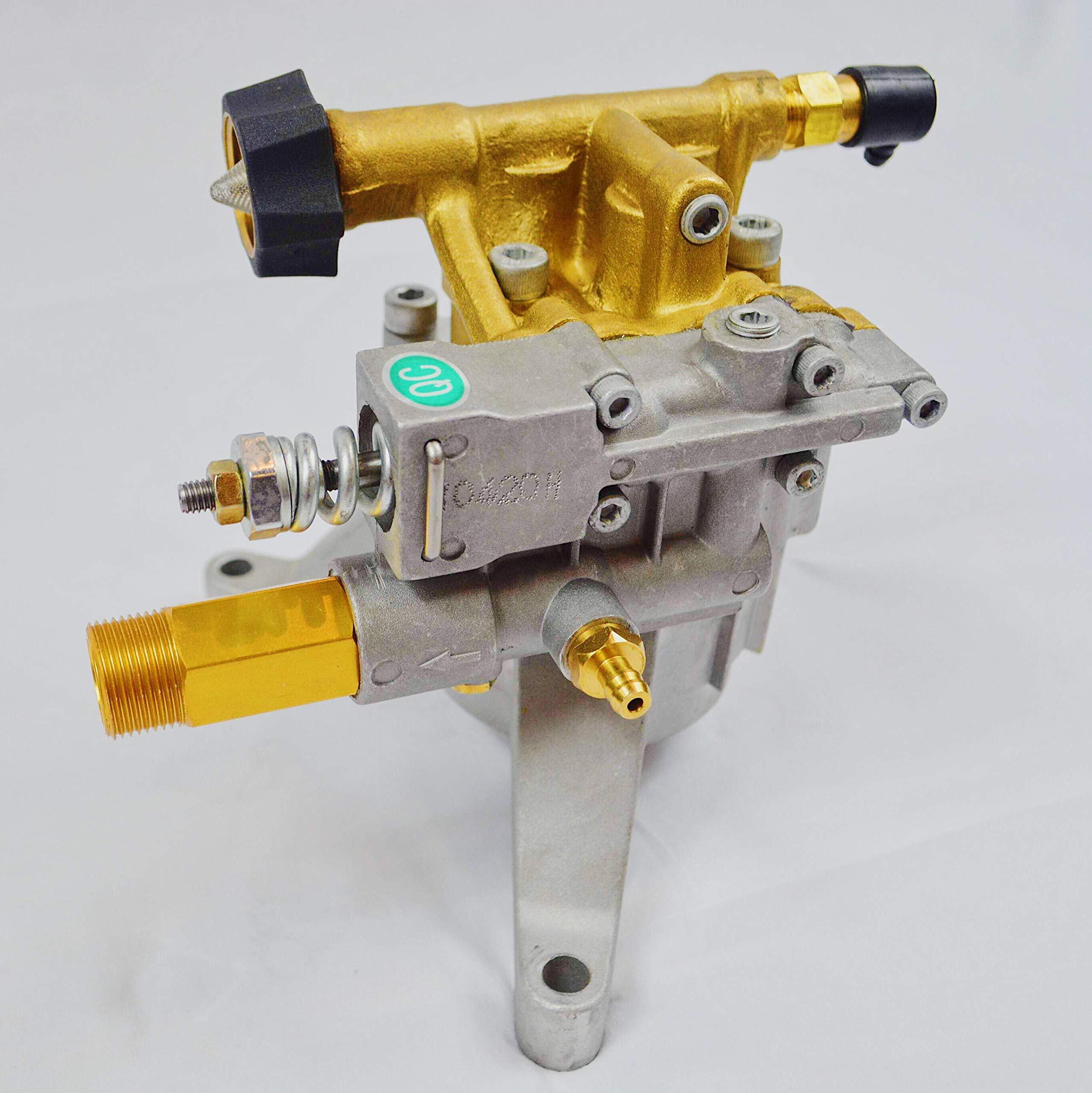 PEGGAS New - Premium - Cold Water - Gasoline - Pressure Washer - Power Washer - Replacement - Axial Vertical Pump 7/8'' Shaft - 3000-3200 PSI 2.5 GPM Brass Head - Simpson - Briggs & Stratton - Ryobi