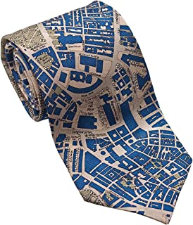 product image for Josh Bach Men's CIVITAS Map of Boston - Silk Necktie, Made in USA
