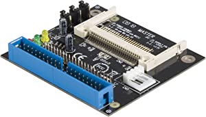 StarTech.com 40/44 Pin IDE to Compact Flash SSD Adapter - IDE to CF Card reader - CF to IDE Converter (IDE2CF),Black