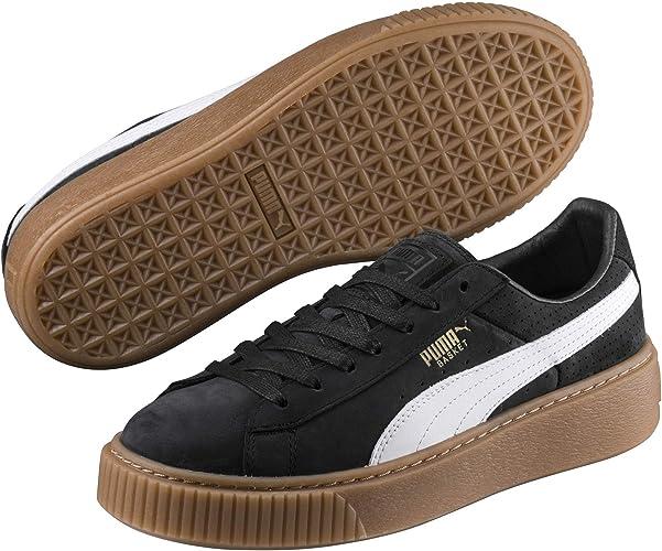 puma basket leather platform