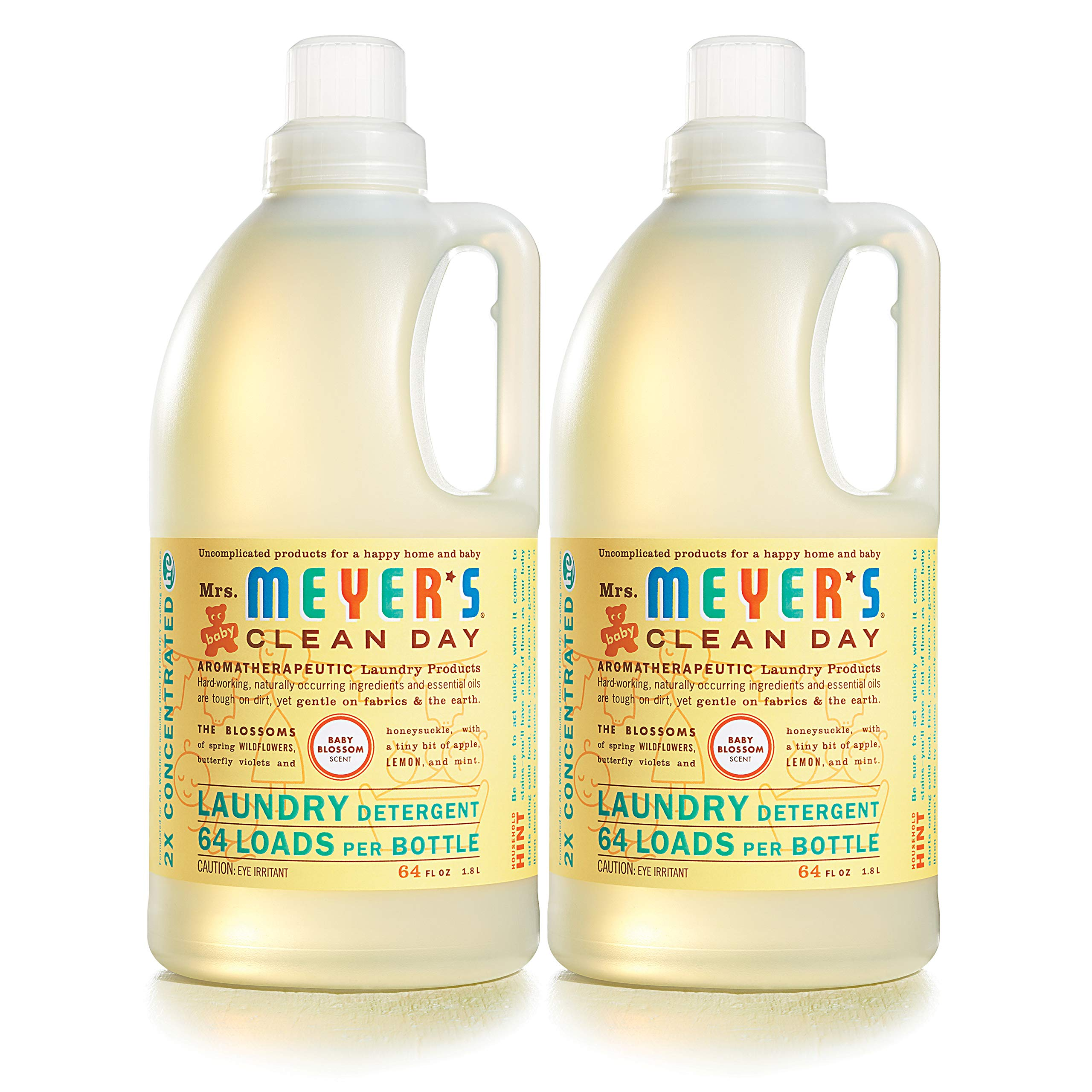 Mrs. Meyer's Laundry Detergent, Baby Blossom, 64 fl oz (2 ct) by Mrs. Meyer's Clean Day (Image #2)