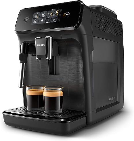 Philips Cafeteras Espresso Completamente automáticas EP1220/00 Serie 1200 Negro Mate con pannarello, 1.8 litros, Acero: Amazon.es: Hogar