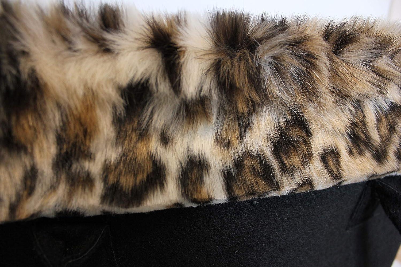 FERETI Tasche Damen Filz Leopard Panter Motiv Stofftasche