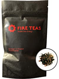 FIRE TEAS Sweet Hot Energy - Saffron, Gunpowder Green Tea, Cinnamon, Ginger,