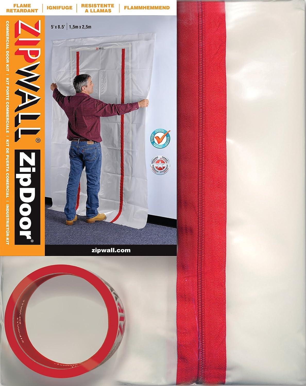 ZipWall ZipDoor Commercial Door Kit for Dust Containment, Flame Retardant, ZDC