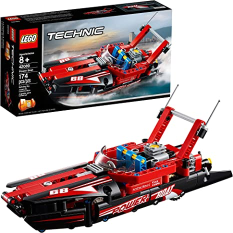 Amazon Com Lego Technic Power Boat 42089 Building Kit 174 Pieces Discontinued By Manufacturer Toys Games