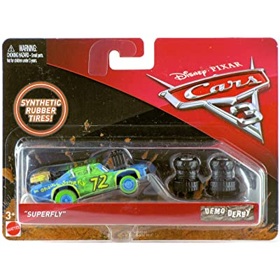 "Mattel Disney Cars Cars 3 Demo Derby ""Superfly"" Diecast Car: Toys & Games"