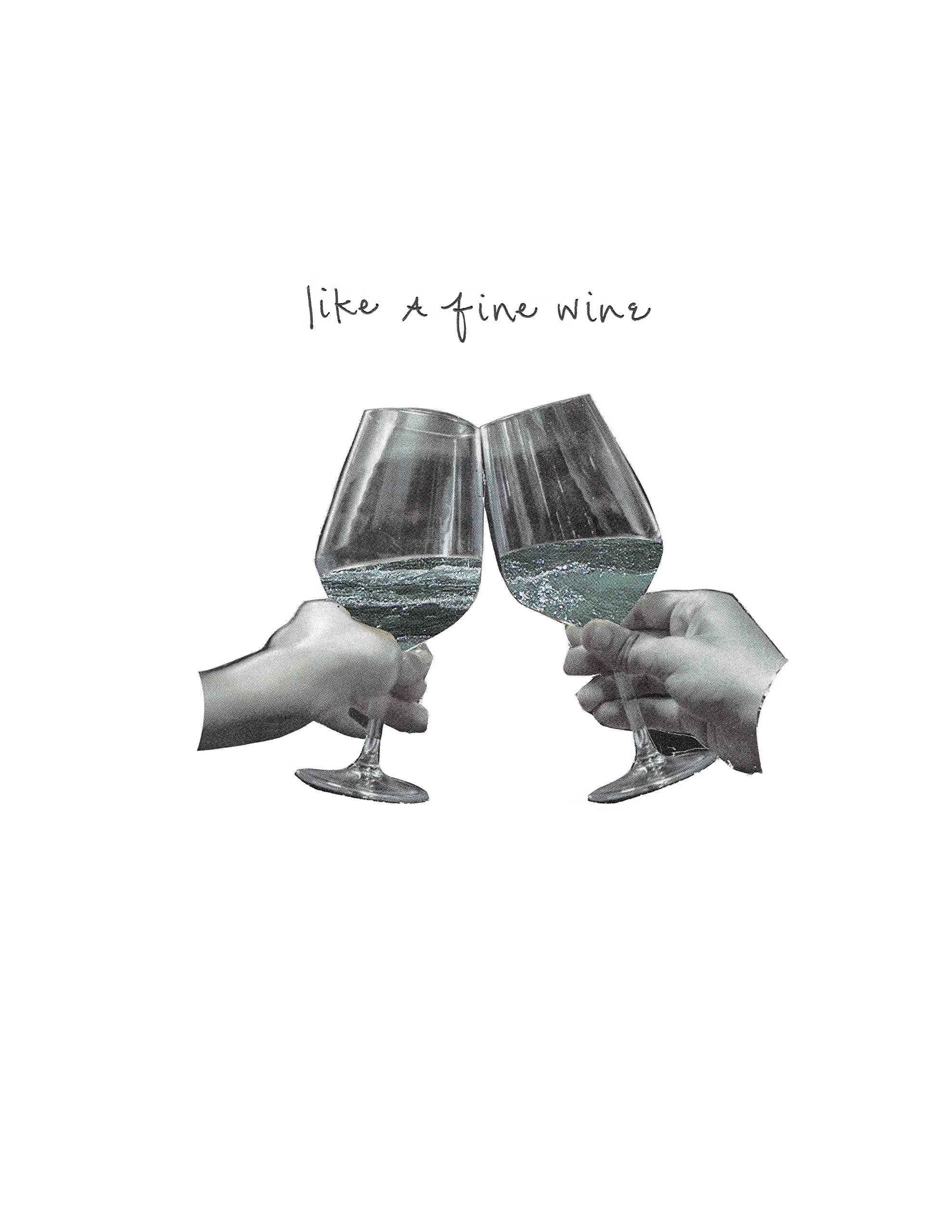 Away Laughing Paperworks Fine Wine Blank Card 4.25'' x 5.5'', Set of 6