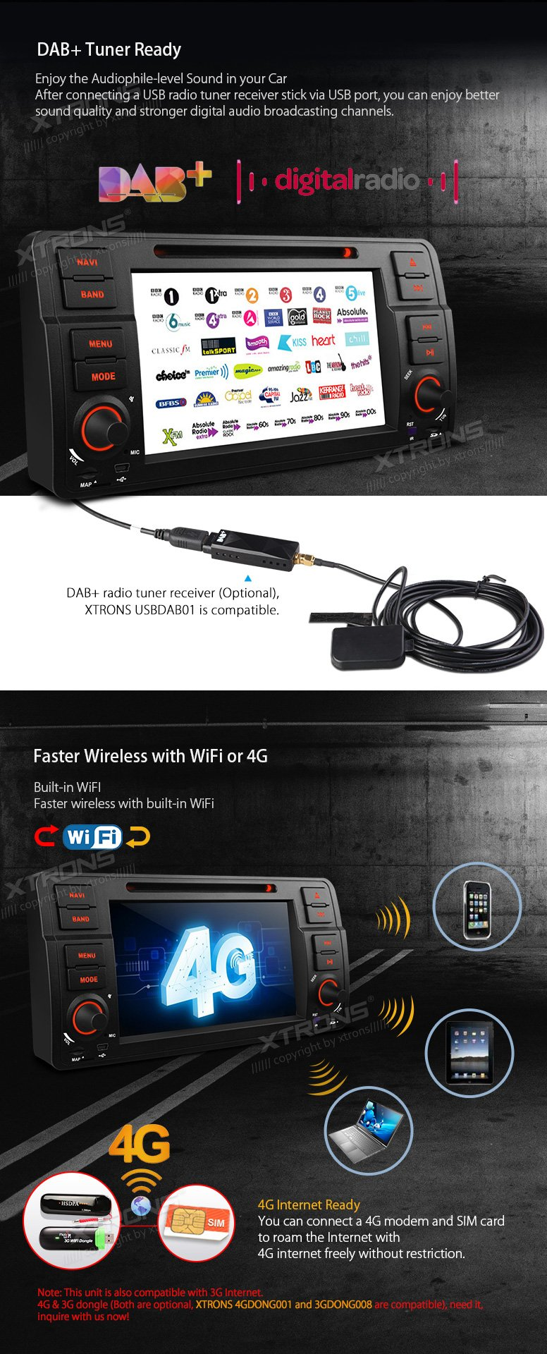 XTRONS Octa-Core 64Bit 2G RAM 32GB ROM 7 Inch HD Digital Capacitive Touch Screen Car Stereo Radio DVD Player GPS CANbus Screen Mirroring Function OBD2 Tire Pressure Monitoring for BMW E46 320 325