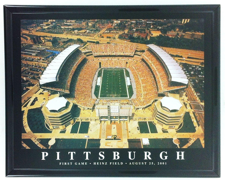 Amazon.com: Framed Pittsburgh Heinz Field & Three Rivers Stadium ...