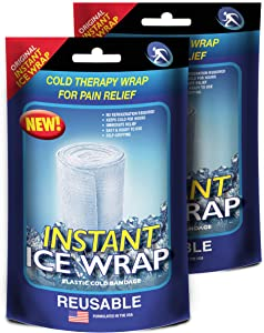 Instant Ice Wrap for Pain Relief, HEAL at Home and Help First Responders with Instant Ice Wrap: 2 Packs for $9.95, Reusable, No Refrigeration Needed: