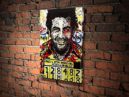 Pablo Escobar Street Art Wall Picture Modern Art Grafitti Picture on Canvas