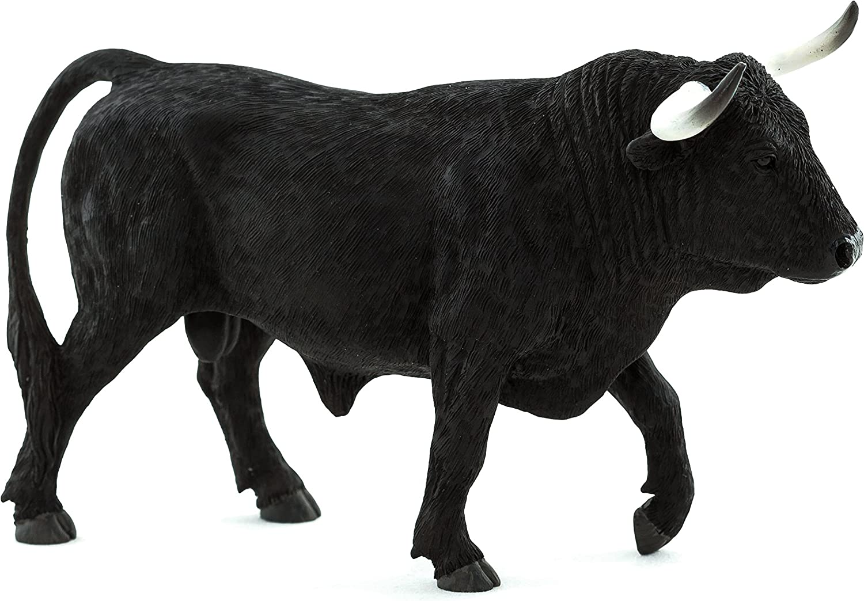 MOJO Spanish Bull Realistic Farm Animal Hand Painted Toy Figurine