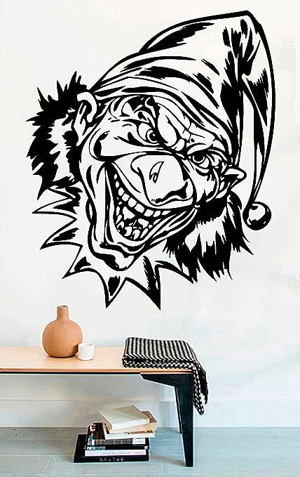 Amazon com: Cool Horror Halloween Vinyl Wall Decals Scary
