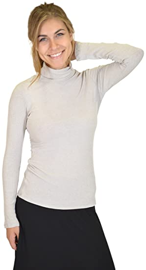 72e76f80d33d1 Stretch is Comfort Women s Long Sleeve Turtleneck Top at Amazon Women s  Clothing store