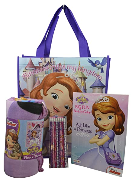 Gift Set Of 40Pieces Disney Sofia The First Throw Blanket With Tote Interesting Sofia The First Throw Blanket