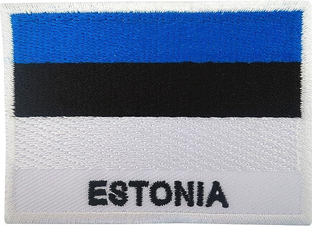 Parche hierro en/coser en insignia bordada la bandera de Estonia estonio Diseño de bordado: Amazon.es: Hogar
