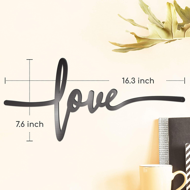 18X9 Inch Black Home Word Love Calladagh Cross Bibical Wall Hanging Decoration ViveGate Love Sign Metal Cross Wall Decor
