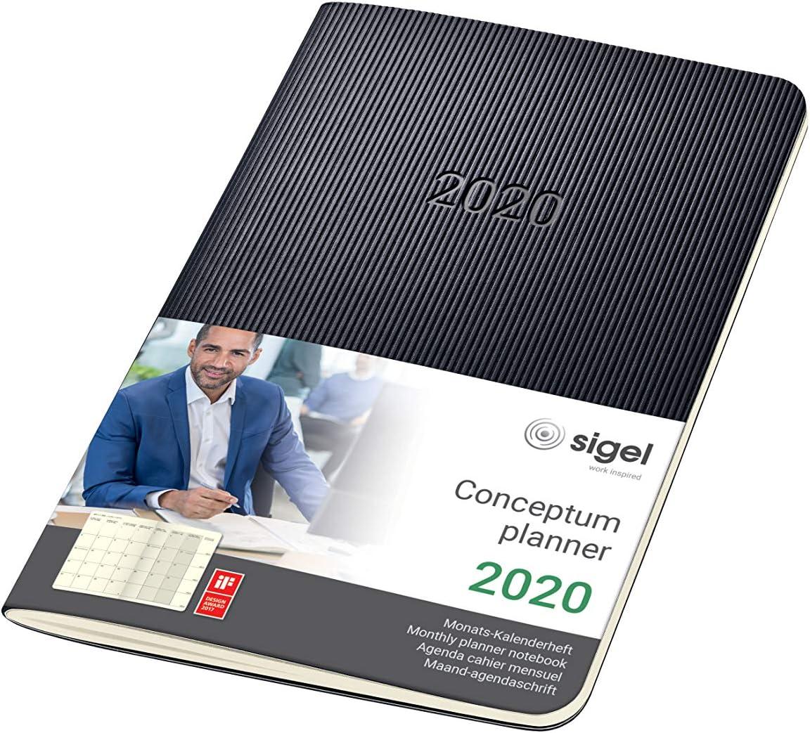 Kalender schwarz Planer Sigel Terminkalender 2020 Conceptum C2004 Hardcover A4
