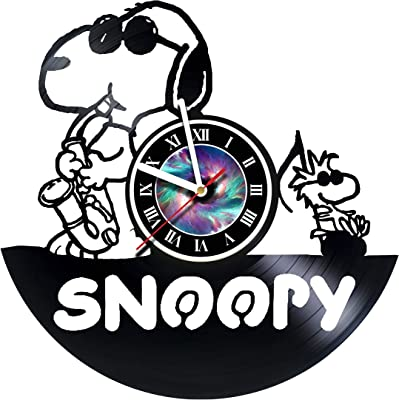 kravchart snoopy come home vinyl record wall clock get unique gifts presents for birthday