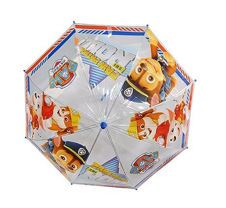 Paraguas Patrulla Canina Infantil Niños Transparente Manual