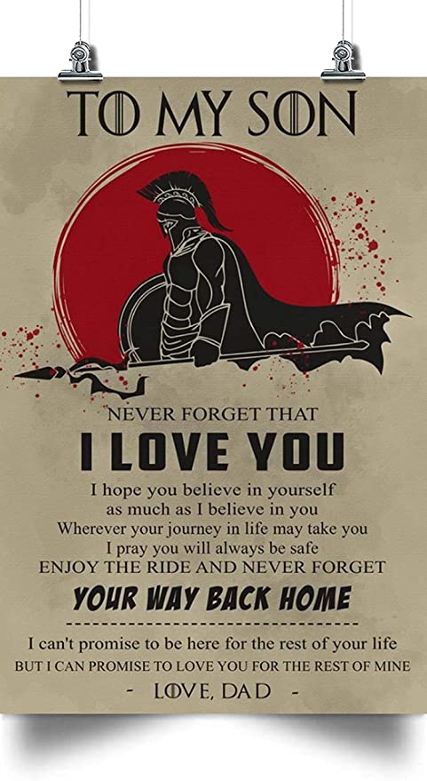 Spartan To My Son Horizontal Poster
