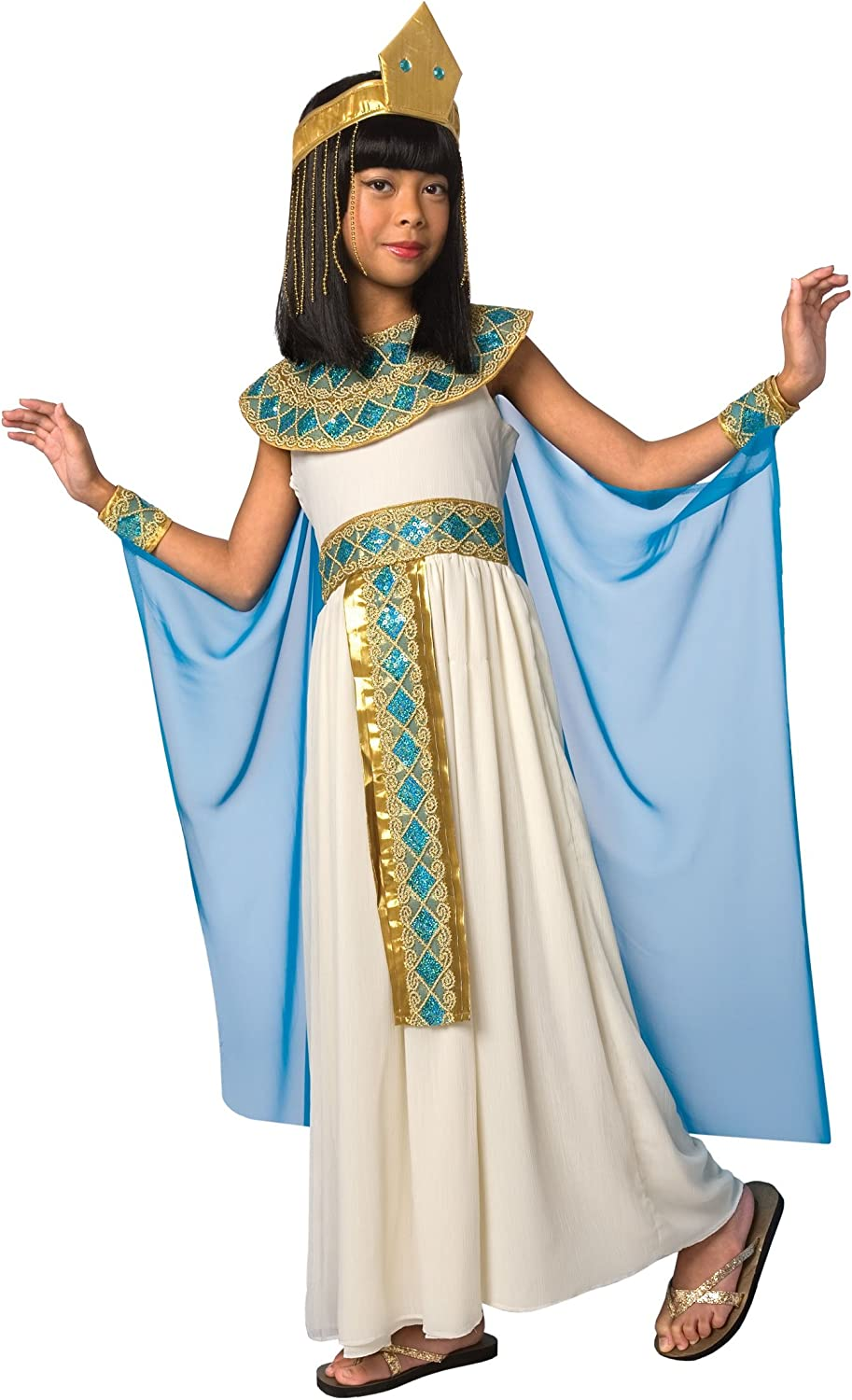 Child/'s Girls Egyptian Queen Of The Nile Cleopatra Dress Costume