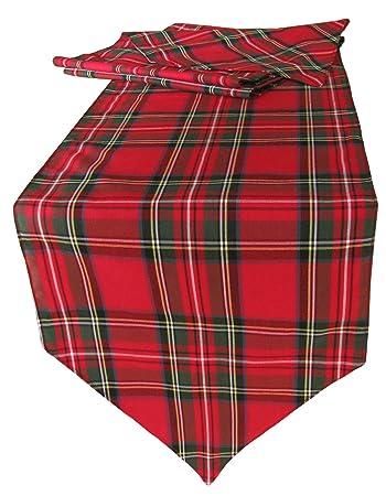 Royal Stewart Tartan Table Runner   30x172cm Fabric