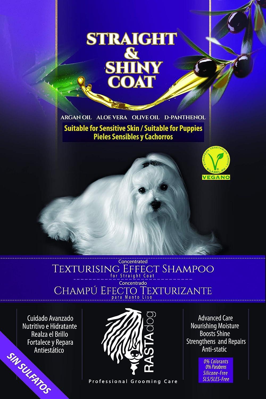 RASTAdog Shampoo Straight & Shiny Coat. Champú Vegano. Sin Sulfatos. Natural, Piel Sensible y Atópica, Cachorros.