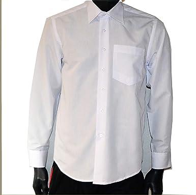 Sin Marca Camisa clásica Hombre algodón Cuello Hombre Estilo Oficina Ceremonia Bianco M: Amazon.es: Ropa y accesorios