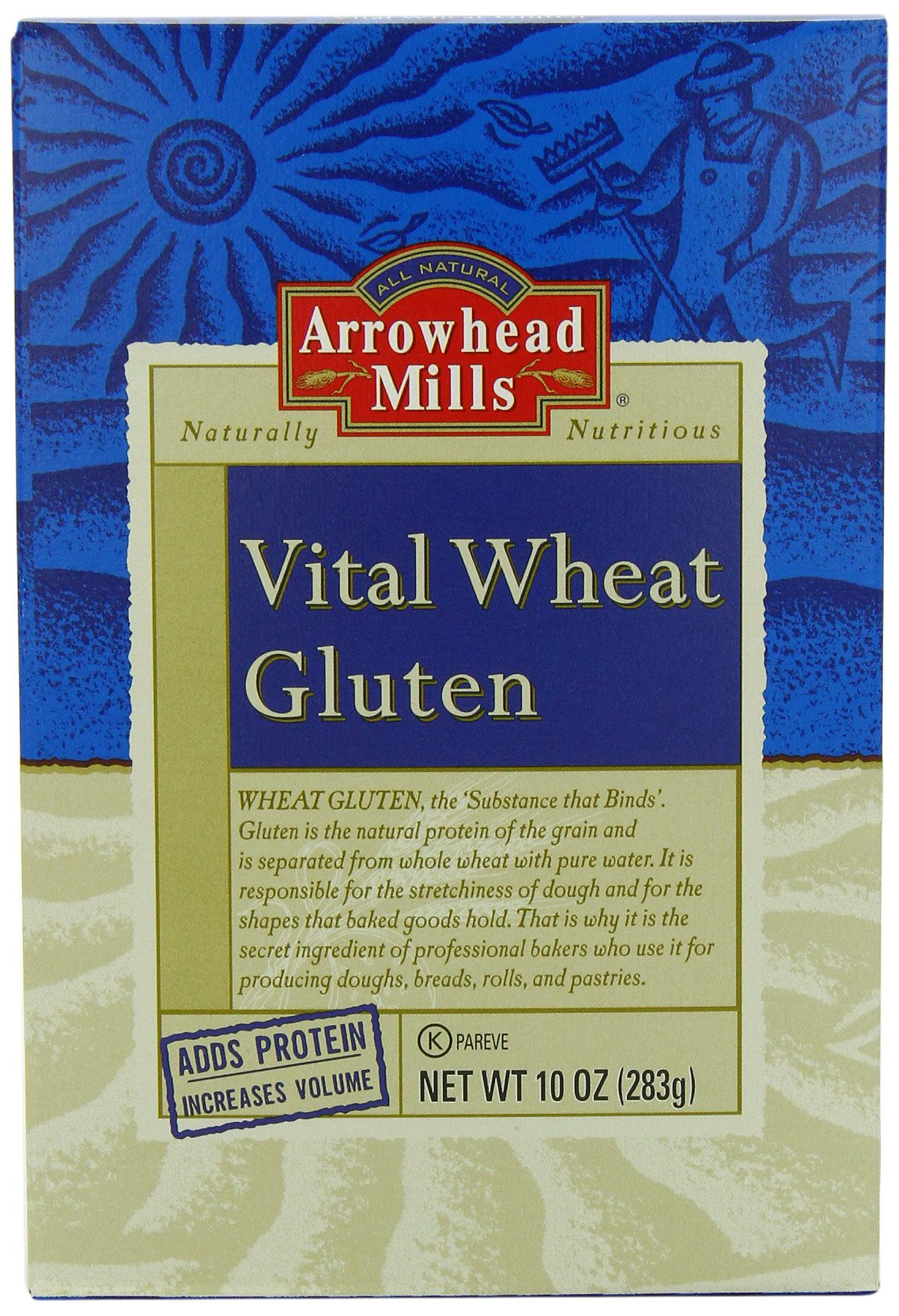 Arrowhead Mills Vital Wheat Gluten, 10 Ounce (Pack of 12) by Arrowhead Mills