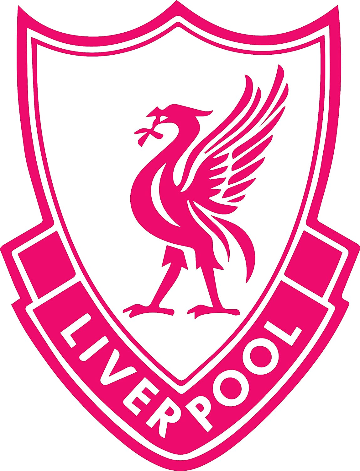Angdest liverpoll fc liverpool pink set of 2 premium waterproof vinyl decal stickers for laptop phone accessory helmet car window bumper mug tuber cup