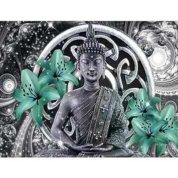 Fototapete Buddha Lilie Grün Vlies Wand Tapete Wohnzimmer Schlafzimmer Büro  Flur Dekoration Wandbilder XXL Moderne Wanddeko - 100% MADE IN GERMANY - ...