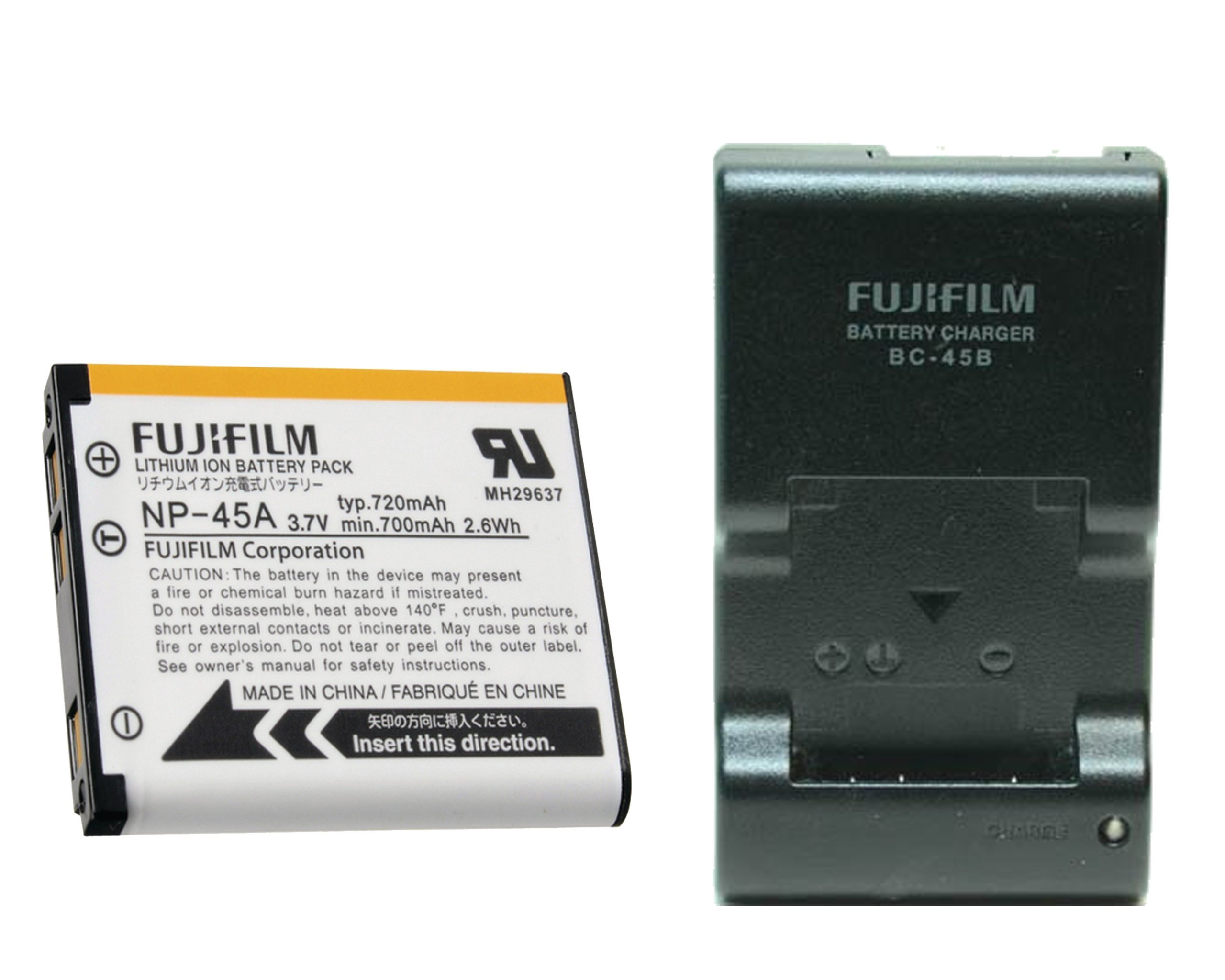 Bonacell 2 Pack NP-45 Battery 1200mAh and Charger Kit Compatible with Fujifilm FinePix XP140 XP130 XP120 XP95 XP90 XP50 XP60 XP70 XP80 T350 T360 T400 T500 T510 T550 T560 JX550 JX580 and More