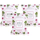 ZEA Facial Wipes Infused with Rose Hip Essential Oil-Alcohol and Paraben Free