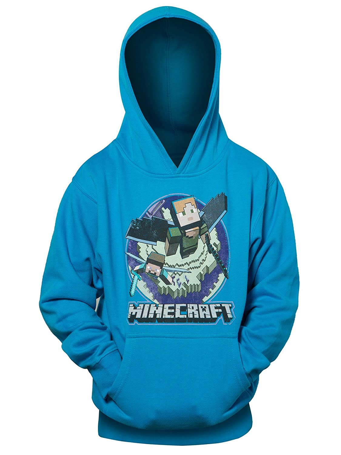 JINX Minecraft Big Boys' Elytra in Flight Pullover Hoodie MJMC-06524YP-TQ
