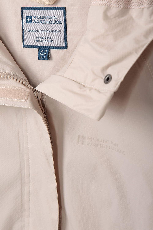 Cappotto Leggero Cuciture Completamente Nastrate Impermeabile Campeggio Giacca da Donna con 2 Tasche con Zip Mountain Warehouse Giacca da Donna Torrent Viaggi