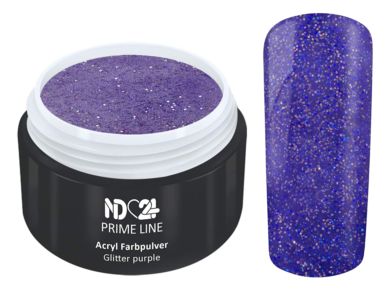 5G - PRIME LINE - ACRYL FarbPulver GLITTER LILA VIOLETT - Feinstes FARB Acryl-Puder Acryl-Pulver Acryl-Powder - STUDIO QUALITÄT nd24