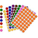 Royal Green Kids Colored Craft Stickers Colorful 5/8 inch 17mm - 1536 Pack - 8 Colors - 32 Sheets - Dot Labels for Children F